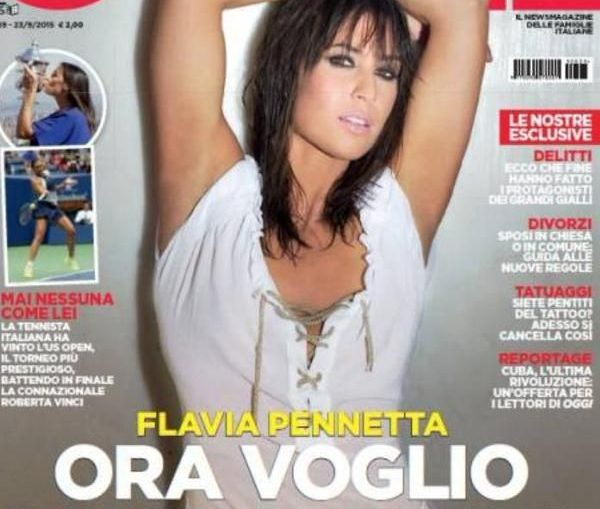 flavia pennetta coperta oggi magazine