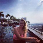 POZA ZILEI, 30 octombrie 2015: Petra Kvitova s-a relaxat la piscină înaintea ultimul meci de la Turneul Campioanelor