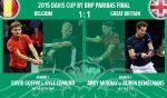 Cupa Davis: Belgia și Marea Britanie sunt la egalitate după prima zi (FOTO)