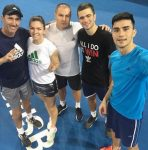FOTO: Simona Halep şi echipa ei, la finalul primului antrenament de la Brisbane