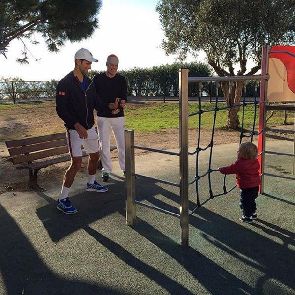 novak djokovic antrenament fiu copil