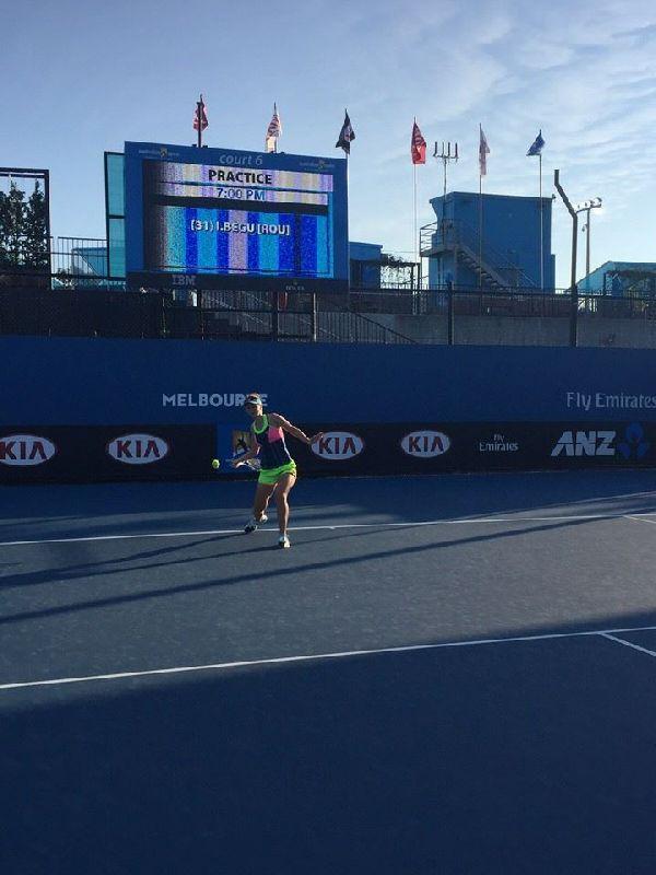 irina begu australian open antrenament
