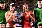 POZA ZILEI, 29 ianuarie 2016: Martina Hingis și Sania Mirza cu trofeul cucerit la dublu la Australian Open