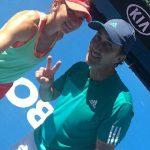 Australian Open: Imagini de la antrenamentul Simonei Halep (VIDEO)