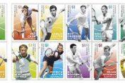australia timbre tenis legende