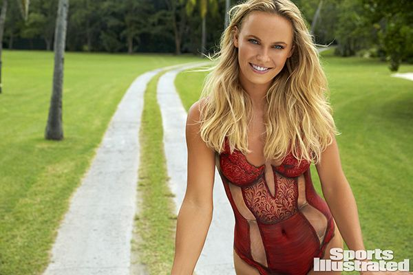 wozniacki sports illustrated body paint