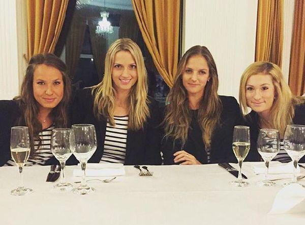 Echipa Cehiei la dineul oficial al Fed Cup