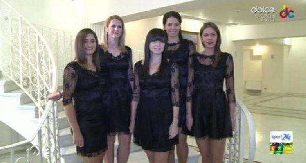 Echipa Romaniei la dineul oficial al Fed Cup