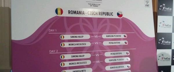 A fost stabilită ordinea meciurilor din confruntarea România – Cehia, din primul tur al Grupei Mondialei 1 a Fed Cup. Conform tragerii la sorţi, prima va intra pe teren Simona...