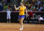 """Fed Cup România – Germania: Simona Halep: """"A fost greu din cauza presiunii și a dorinței mari de a câștiga"""" (corespondență de la Marcu Czentye)"""