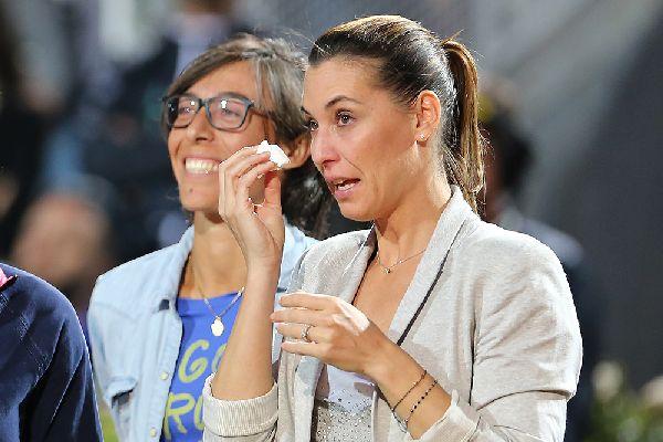 flavia pennetta retragere roma lacrimi
