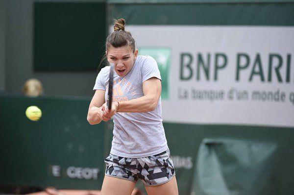 simona halep antrenament roland Garros