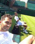 POZA ZILEI, 25 iunie 2016: Horia Tecău și Jean Julien Rojer, în alb și la antrenament la Wimbledon