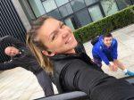 FOTO: Simona Halep, cu zâmbetul pe buze, la Londra