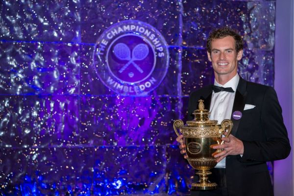 andy murray trofeu wimbledon gala