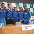 Cu Horia îngândurat și ceilalți componenți ai lotului foarte bine dispuși, echipa României a venit astăzi în fața reprezentanților presei cu ocazia primei conferințe organizate înaintea meciului de Cupa Davis...