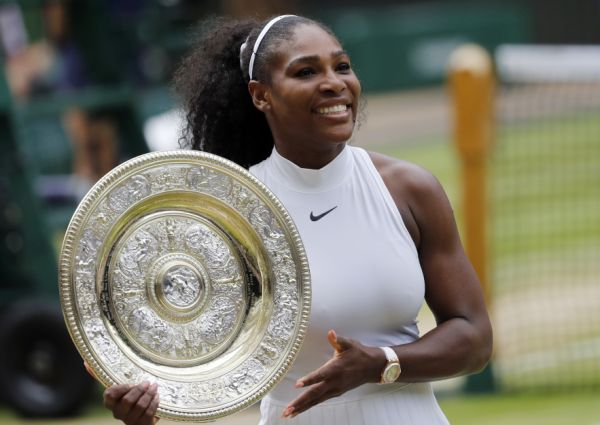 serena williams trofeu wimbledon