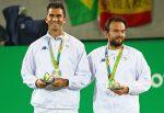 FOTOGALERIE: Imagini cu Forin Mergea și Horia Tecău pe podiumul olimpic. Românii au cucerit medaliile de argint