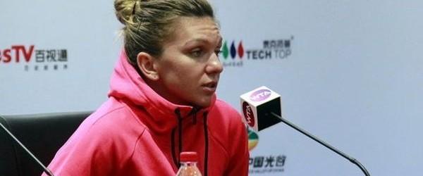 Calificată în optimile de finală la Wuhan după ce Irina Begu s-a retras din cauza unei accidentări în setul secund al meciului direct, Simona Halep a vorbit la conferința de...