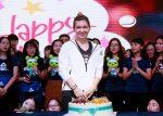 POZA ZILEI, 27 septembrie 2016: Simona Halep și tortul primi la Wuhan în ziua în care a împlinit 25 de ani. Mesajul ei pentru fani