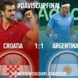 Suspansul continuă în finala Cupei Davis dintre Croația și Argentina. Croația și Argentina se află la egalitate după prima zi a finalei. În primul meci al zilei de vineri, Marin...