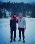 POZA ZILEI, 28 noiembrie 2016: Horia Tecău și Marius Copil se antrenează împreună la Poiana Brașov