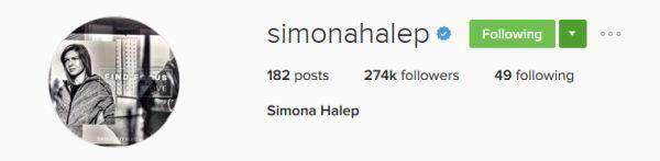instagram simona halep