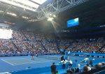 FOTO: Peste 6.000 de fani au asistat la primul antrenament al lui Roger Federer de la Perth