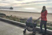 victoria azarenka bebelus copil plimbare carut