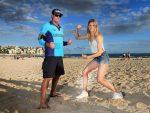 FOTOGALERIE: Eugenie Bouchard a fost pe plaja Bondi din Sydney, după care s-a antrenat cu Irina Begu