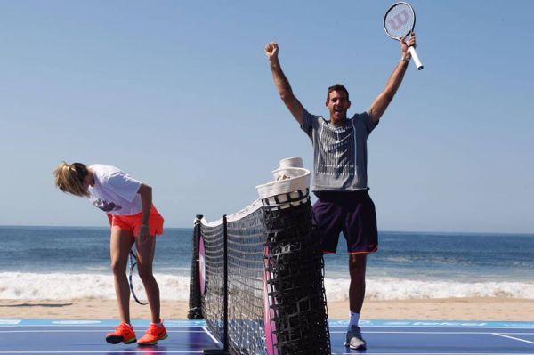 del potro eugenie bouchard acapulco tenis plaja 1