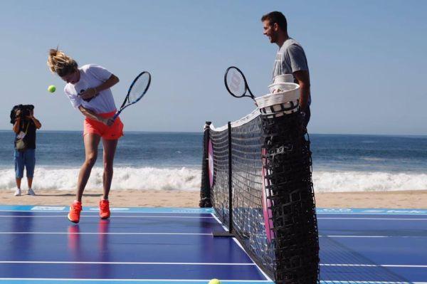 del potro eugenie bouchard acapulco tenis plaja 2