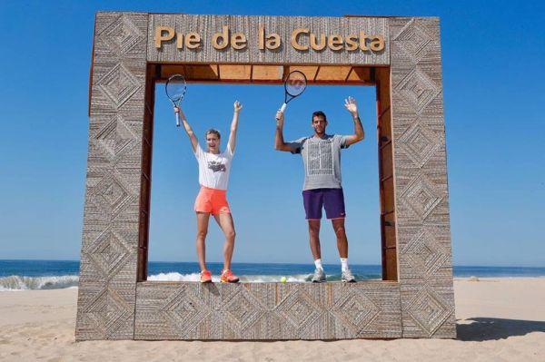 del potro eugenie bouchard acapulco tenis plaja 5