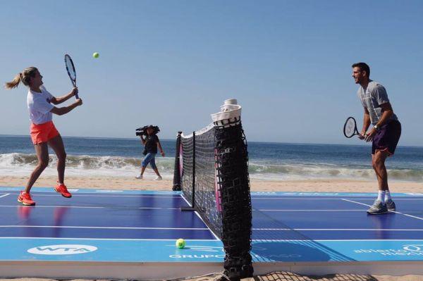 del potro eugenie bouchard acapulco tenis plaja 6