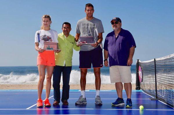 del potro eugenie bouchard acapulco tenis plaja