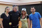 FOTO: Nadia Comăneci a jucat tenis cu Ilie Năstase la Stejarii