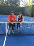 FOTO: Sorana Cîrstea a jucat tenis cu o vedetă a muzicii