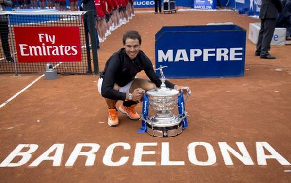 rafael nadal trofeu barcelona