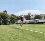 FOTO: Simona Halep a început antrenamentele pe iarbă, la Eastbourne