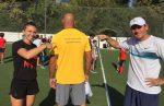 FOTO: Simona Halep s-a antrenat la Stejarii, după care a fost alături de Bogdan Stelea la inaugurarea Școlii de Fotbal