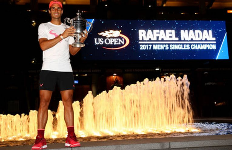 rafael nadal us open trofeu