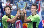FOTOGALERIE: Imagini cu Horia Tecău și Jean Julien Rojer și trofeul cucerit la US Open