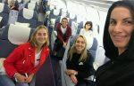 FOTO: Simona Halep a avut colege de zbor celebre spre China