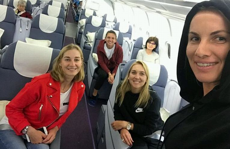 avion simona halep kuznetsova china