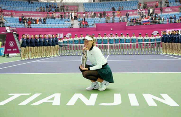 maria sharapova trofeu Tianjin