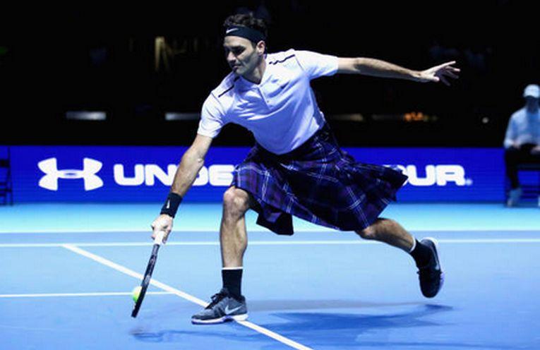 roger federer kilt glasgow tenis