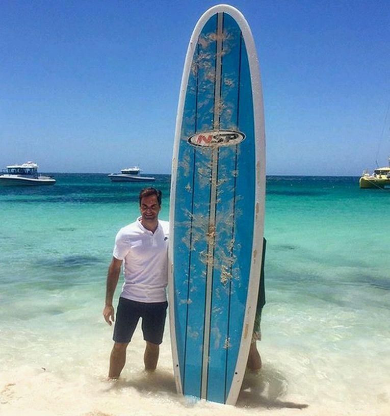 cupa hopman roger federer surf