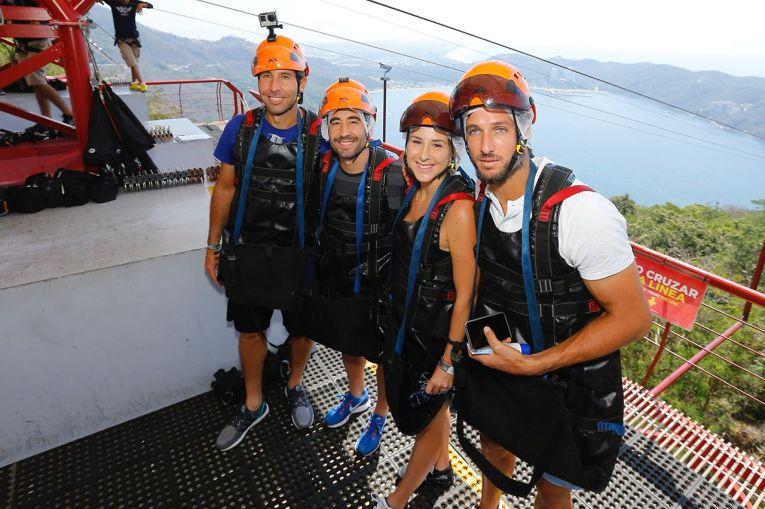 Belinda Bencic, Feliciano López, Marc López y Santiago González acapulco