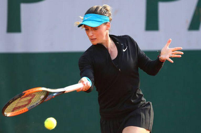 Ana Bogdan a purtat un costum negru la Roland Garros 2018