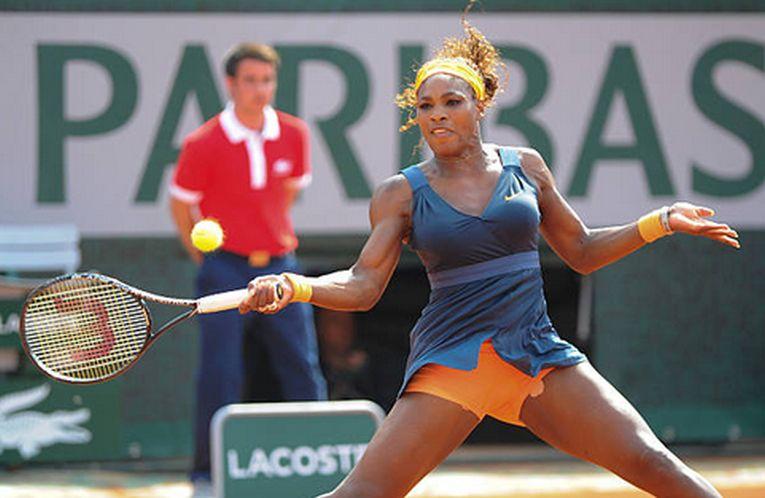 Serena Williams în echipamentul purtat la Roland Garros 2013